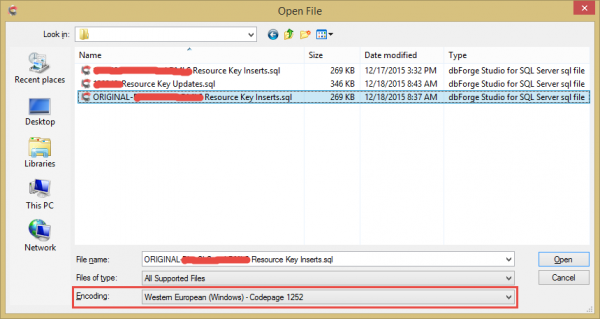 DSS Open File Dialog