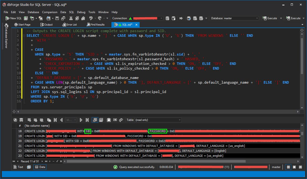 GenerateSIDandPW-SQL