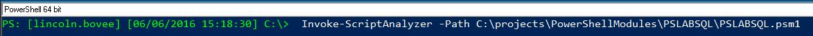 PSScriptAnalyzer-Command-line