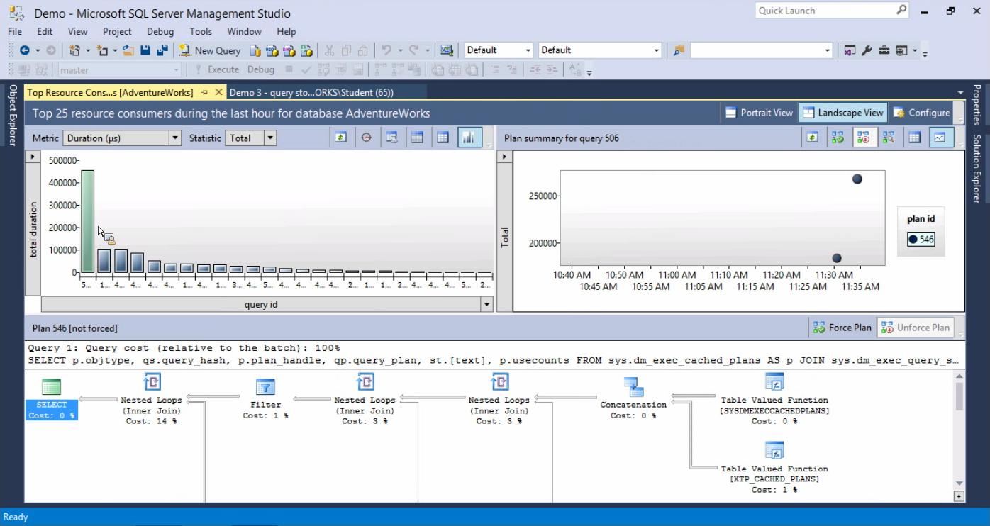 SQL20126QueryStore